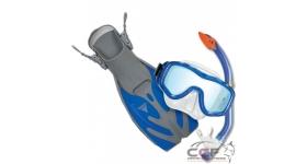 Kit gafas, tubo y aletas